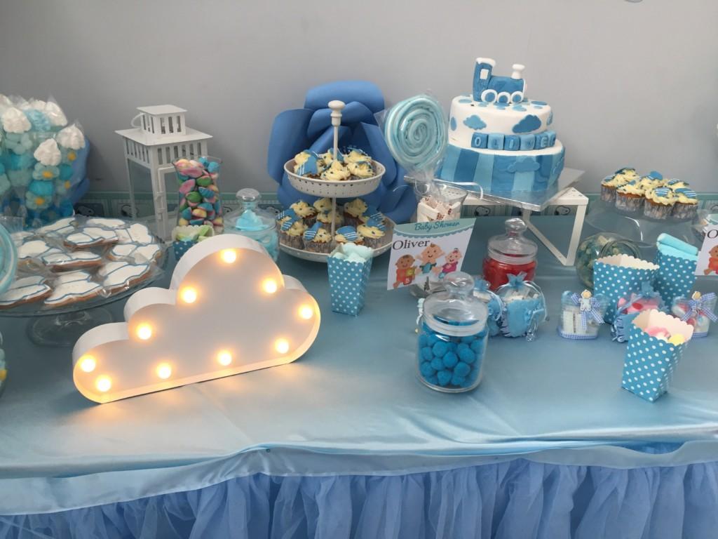 Mesas dulces para baby shower comuniones fiestas - Mesas para comuniones ...